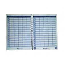 Тетрадь для записи клиентов Estel
